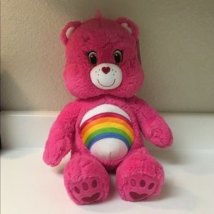 "Build a Bear Rainbow Care bear 17"" Pink New"